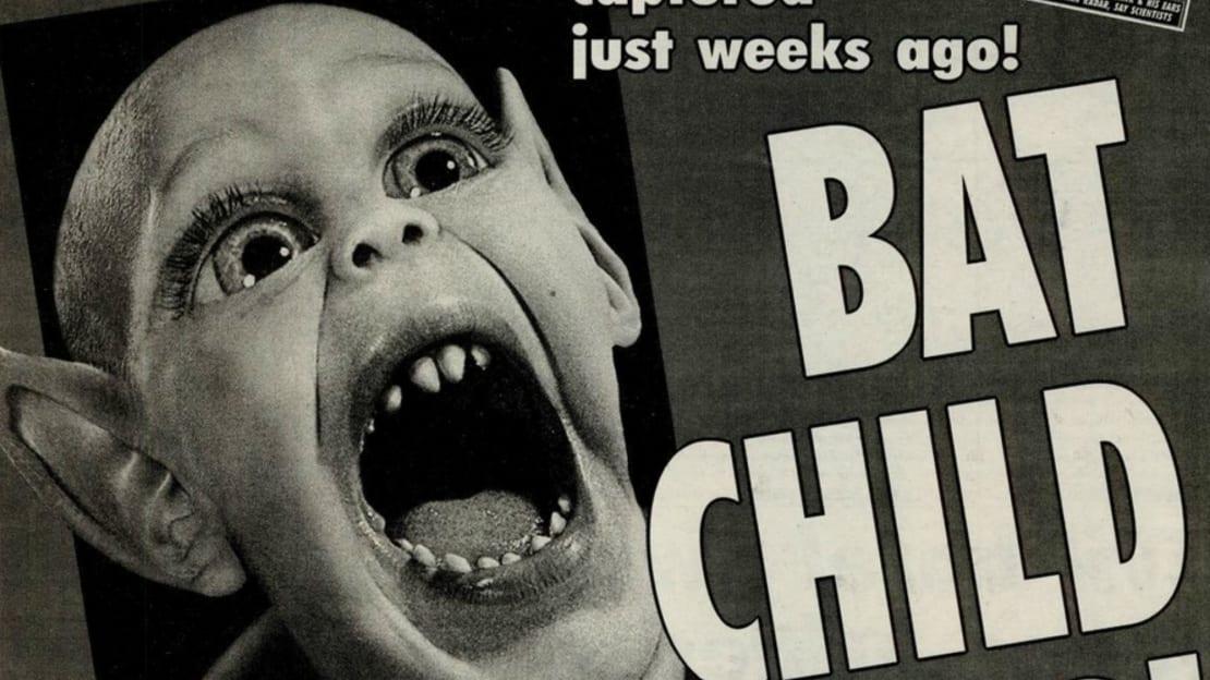 Popular Weekly World News cover monster Bat Boy.