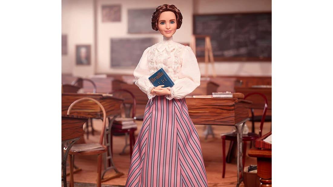 Helen Keller, Barbie-fied.