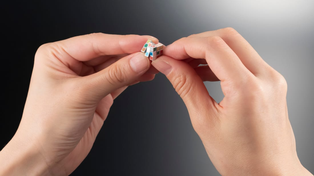 The world's smallest Rubik's Cube is fully functional.