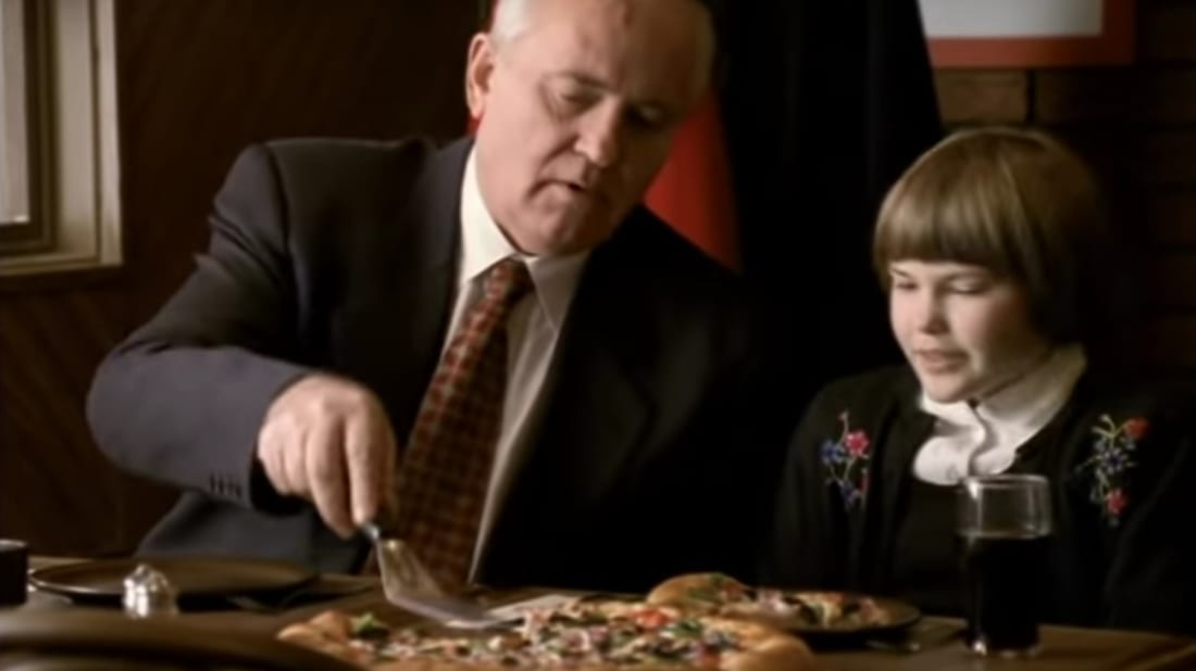 Watch Mikhail Gorbachev Hawk Pizza Hut in This Retro 1997 ...