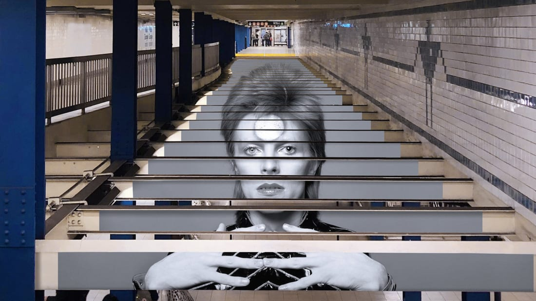 Ny Subway Map Mechanical Stairs.David Bowie Is Taking Over New York City S Subways Mental Floss