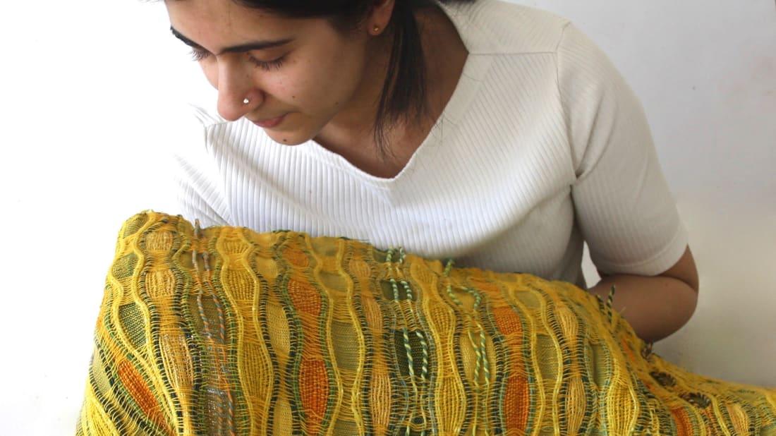 Pallavi Padukone with her citronella-scented textile.