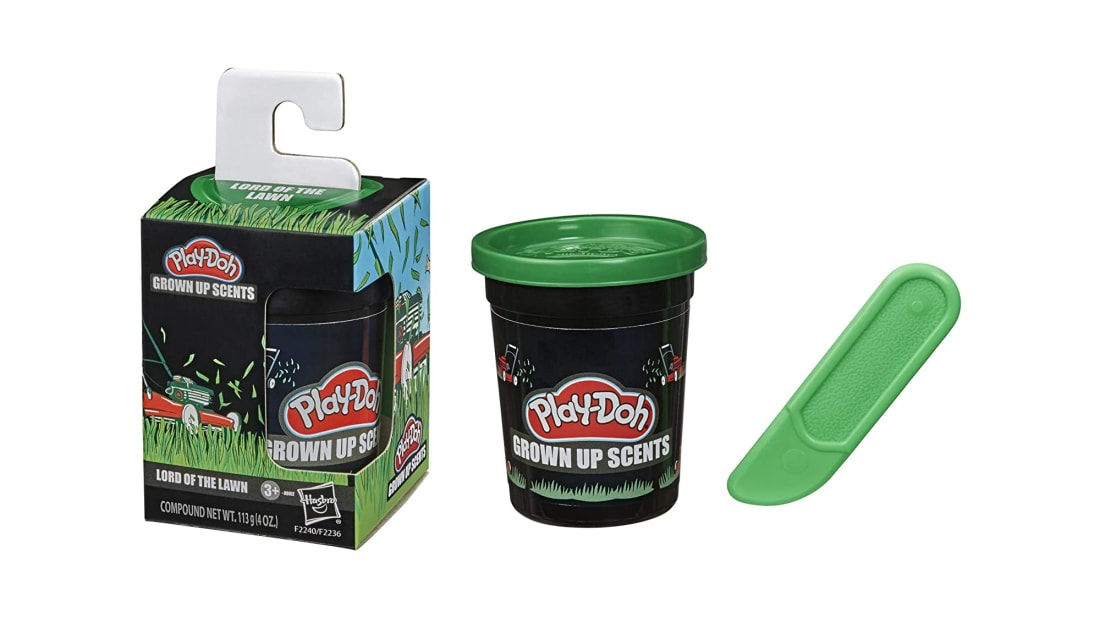 Mowed grass smells almost as good as regular Play-Doh.