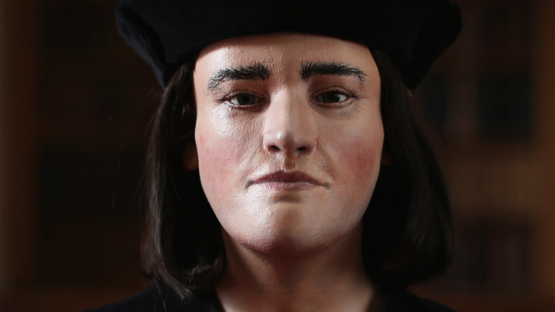 A facial reconstruction of King Richard III unveiled by the Richard III Society in 2013