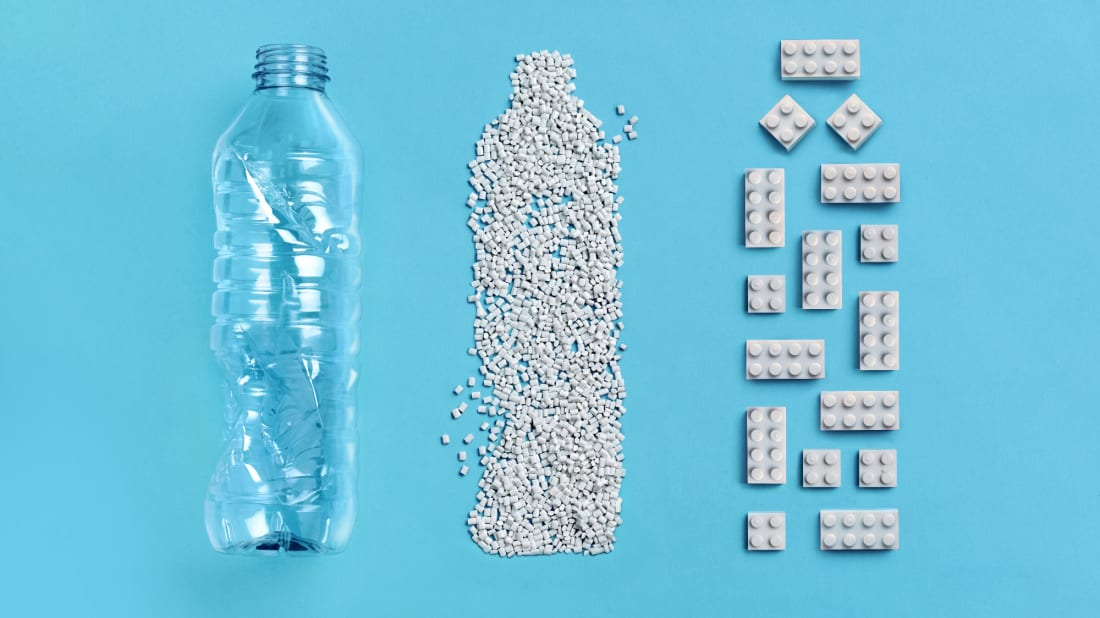 LEGO is hoping to build on its environmental commitment with bricks made from recycled plastic.