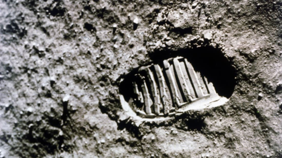 Apollo 11 astronaut Neil Armstrong left the first footprint on the Moon on July 20, 1969.