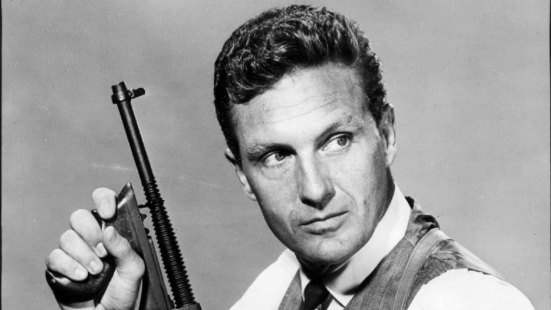 Robert Stack as Eliot Ness in The Untouchables in 1960.