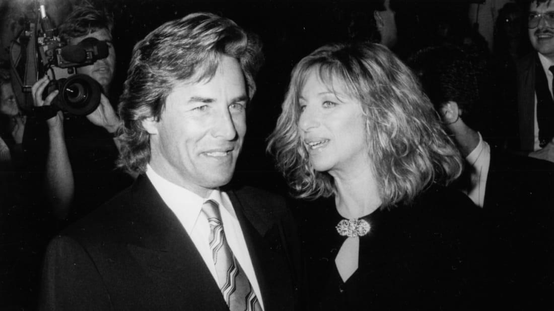 Don Johnson and Barbra Streisand in September 1988.