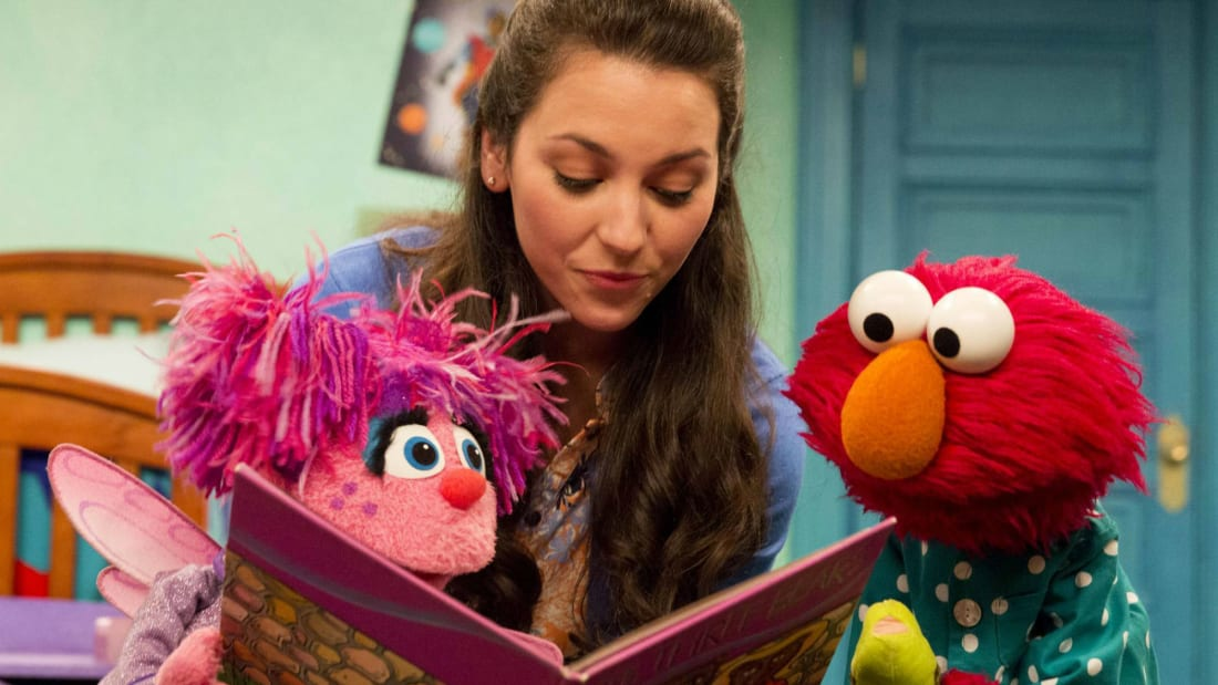 Abby Cadabby, Suki Lopez, and Elmo (L-R) on Sesame Street