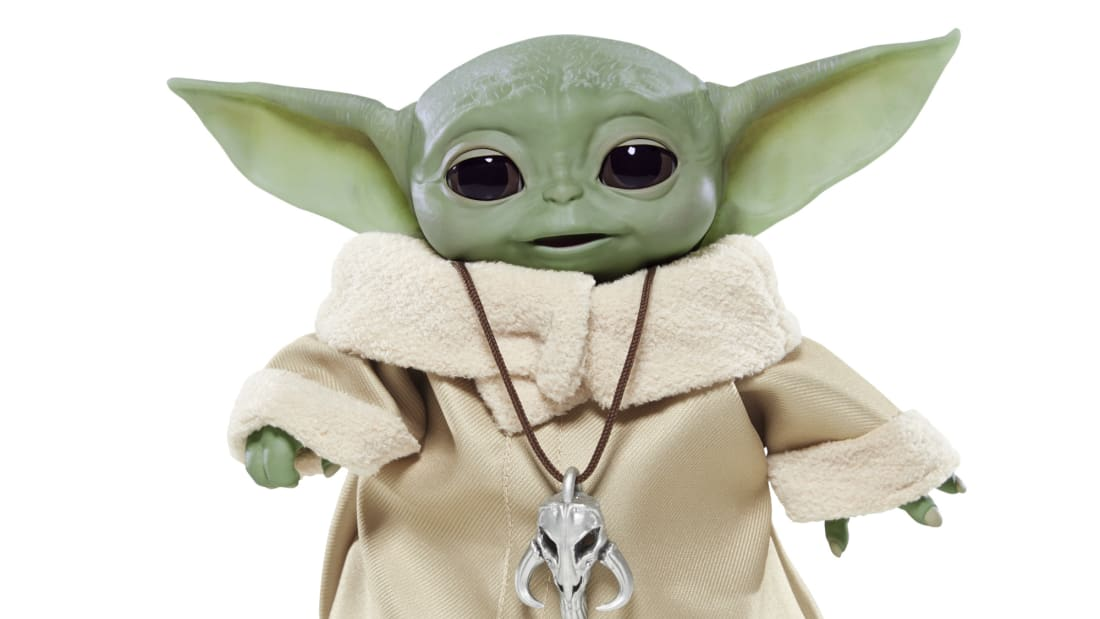 The animatronic Baby Yoda toy will be available later this year.