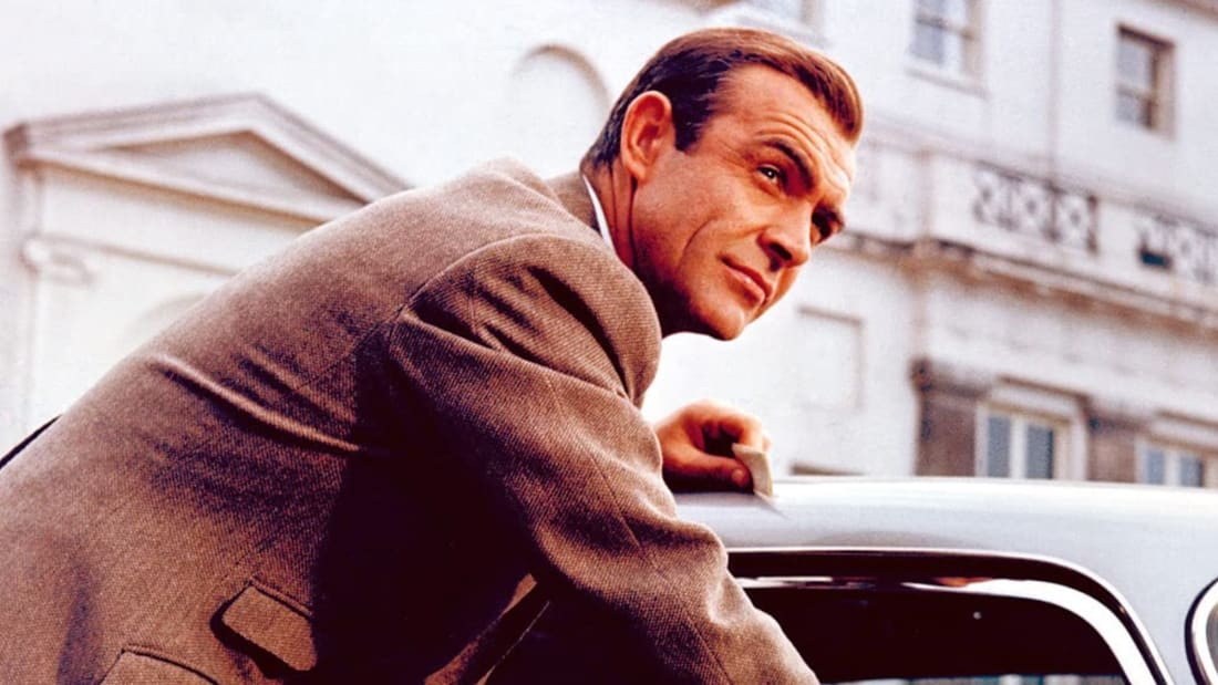 Sean Connery stars as James Bond in Goldfinger (1964).