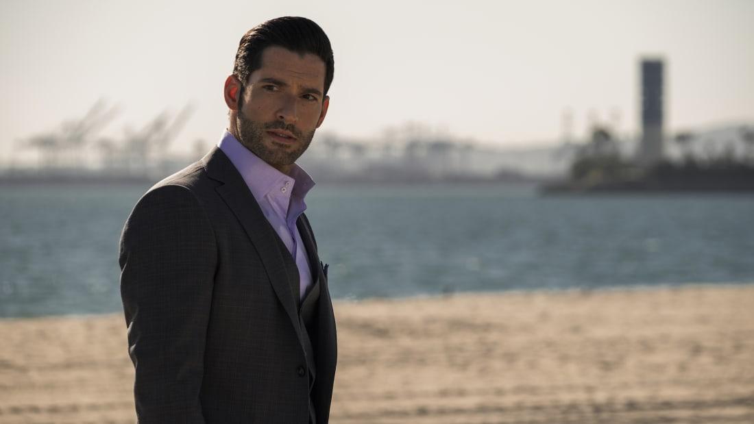 Tom Ellis stars as Lucifer Morningstar in Lucifer.
