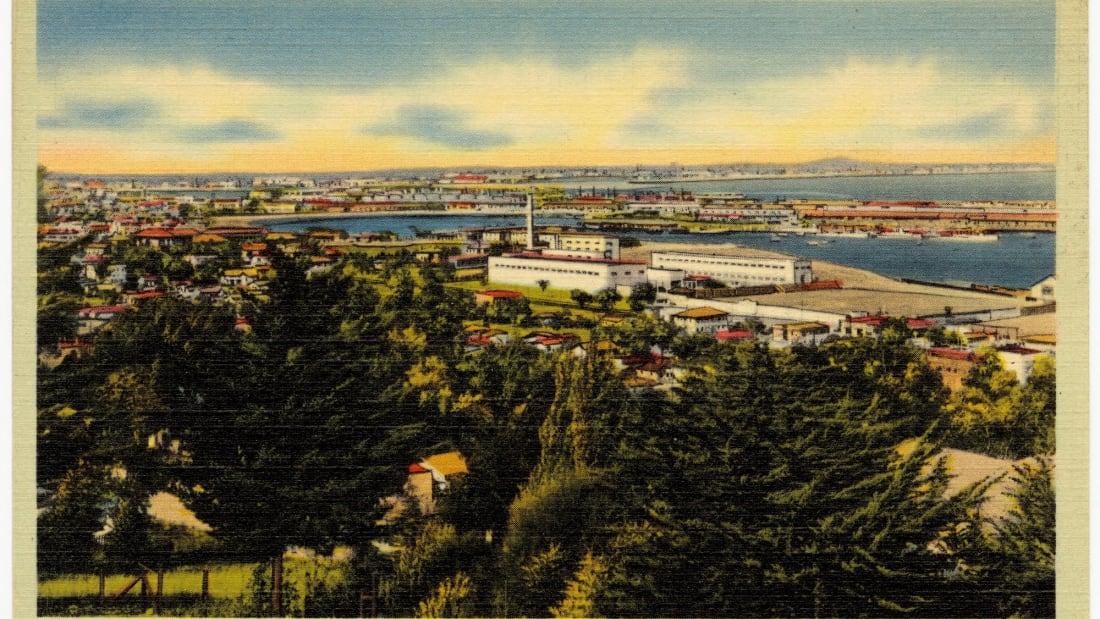 A vintage postcard of San Pedro, California.