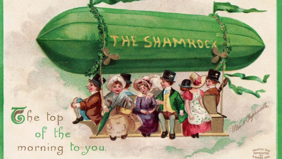This St. Patrick's Day postcard was printed in the early 1900s.