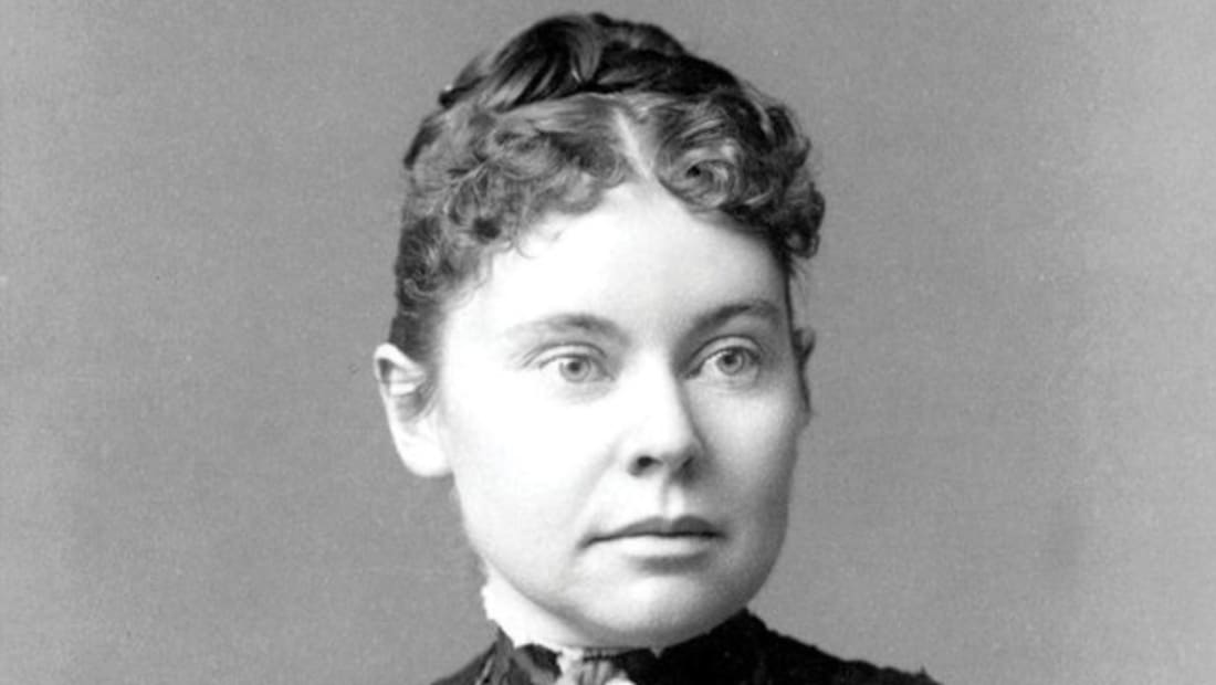 A photograph of Lizzie Borden in 1890.