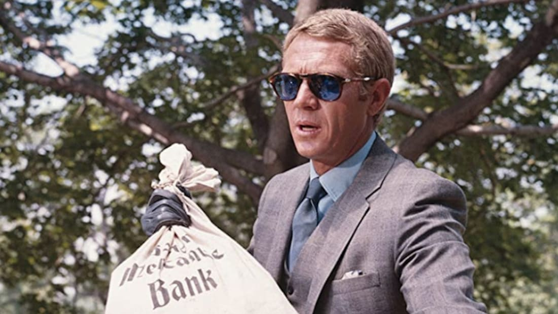 Steve McQueen stars in The Thomas Crown Affair (1968).