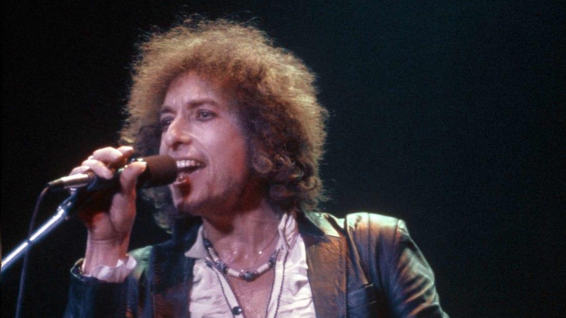 Bob Dylan performs in St. Paul, Minnesota, in 1978.