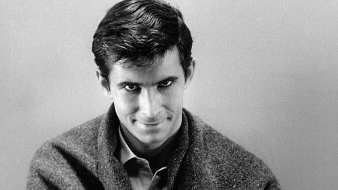 Anthony Perkins stars in Psycho (1960)