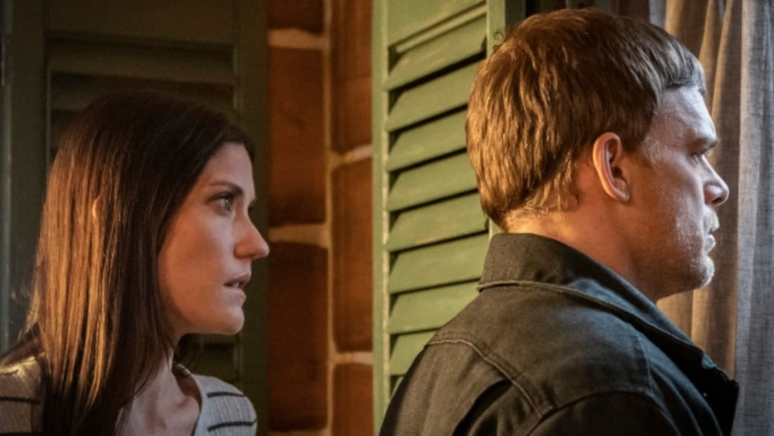 Jennifer Carpenter and Michael C. Hall return as Deb and Dexter Morgan in Showtime's Dexter: New Blood.