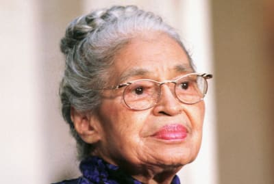 Rosa Parks receiving the Congressional Gold Medal.