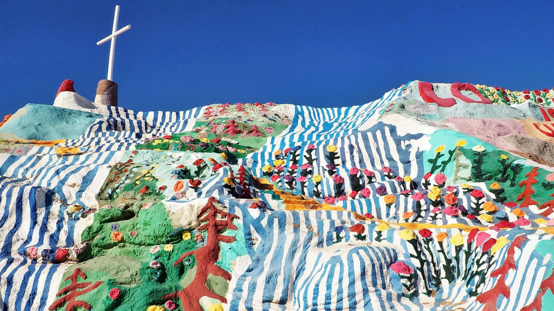 Salvation Mountain in southern California.