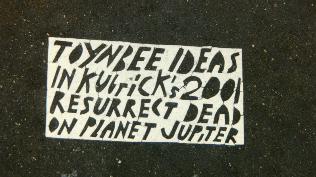 A Toynbee tile near the White House in 1995