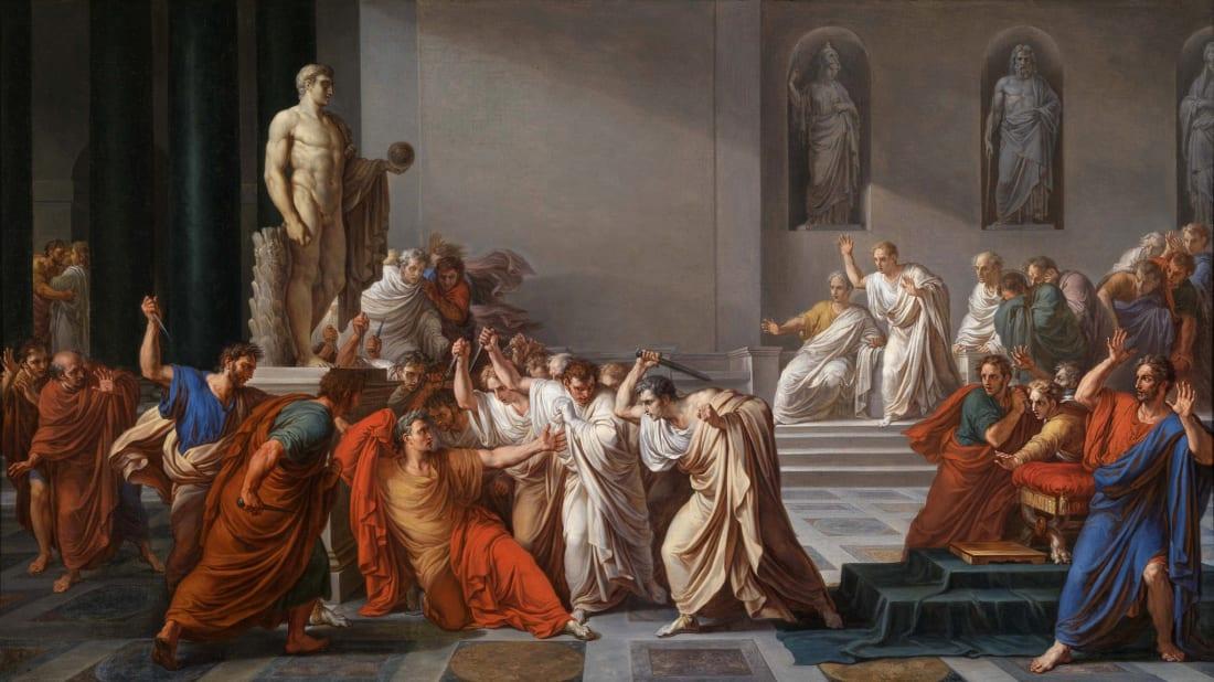 La Morte di Cesare (The Death of Caesar) by Vincenzo Camuccini, circa 1804-1805