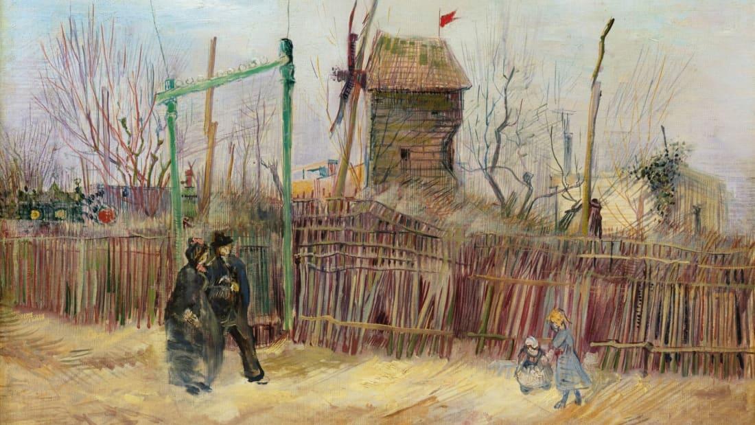 Scène de rue à Montmartre, painted by Vincent van Gogh in 1887.