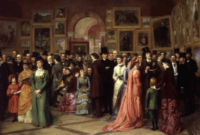 A Private View at the Royal Academy by William Powell Frith, 1883.