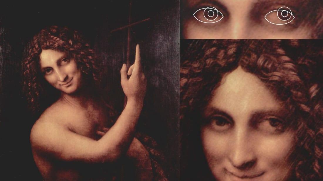 Young John the Baptist, Leonardo da Vinci (1513-16, Louvre, Paris).