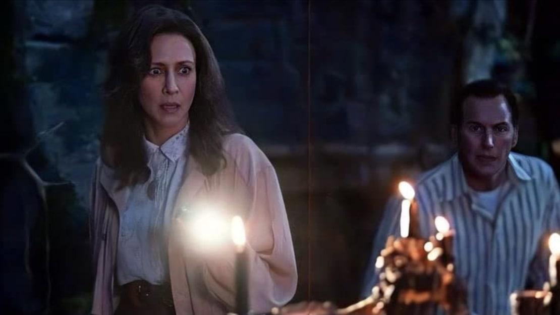 Vera Farmiga and Patrick Wilson in The Conjuring: The Devil Made Me Do It (2021).