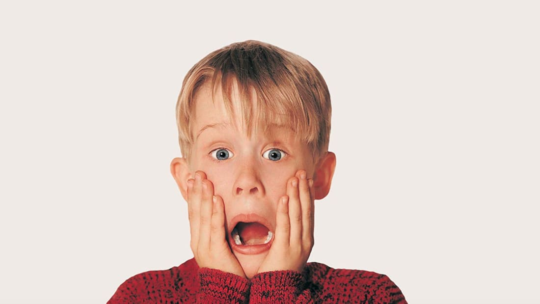 Macaulay Culkin in Home Alone (1990).