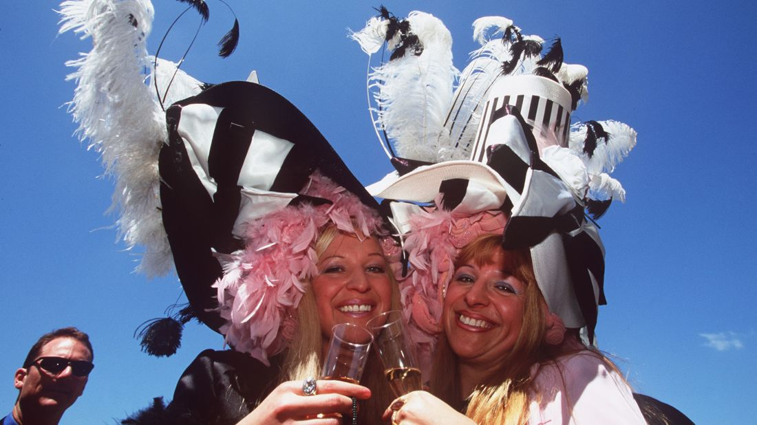 "Women at Australia's Flemington Racecourse—which gives us the phrase ""Flemington Confetti"""