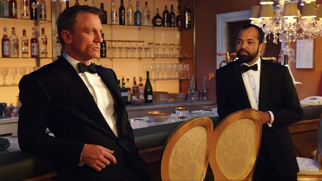 Daniel Craig and Jeffrey Wright star in Casino Royale (2006).