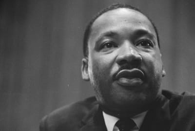 Martin Luther King photographed in 1964.