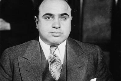 Al Capone got the scars that gave him his Scarface moniker in a barroom brawl.
