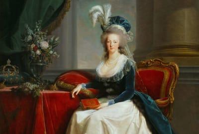 A 1788 portrait of Marie Antoinette by Élisabeth Louise Vigée Le Brun.