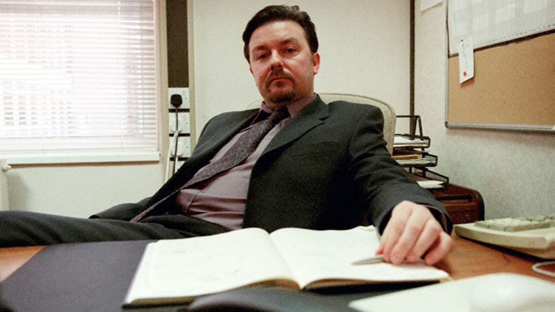 Ricky Gervais stars as David Brent in The Office.