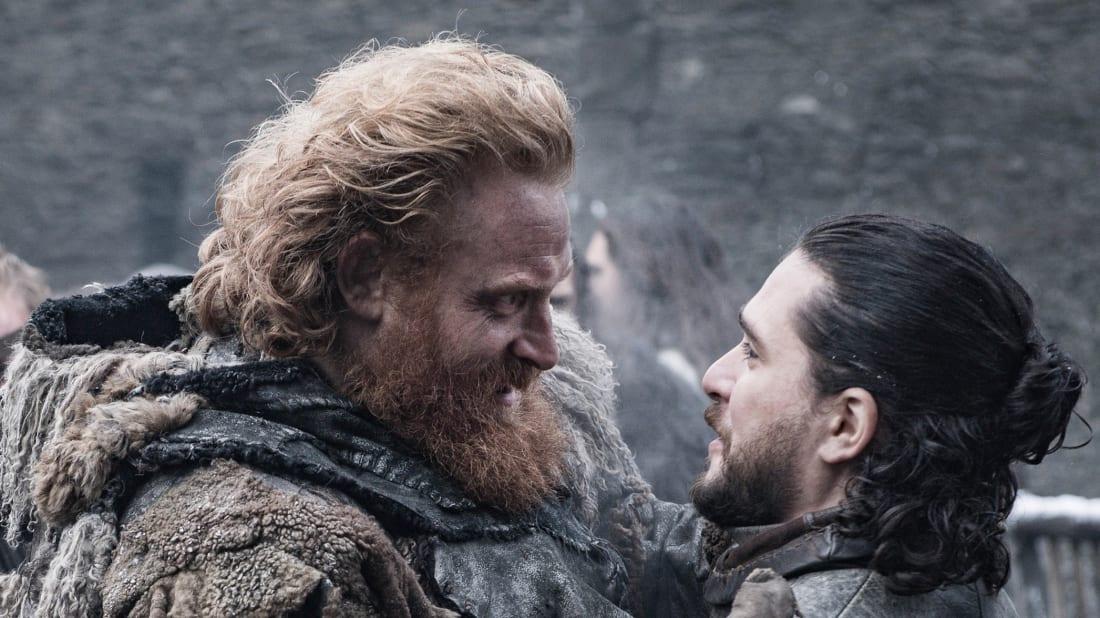 Kristofer Hivju and Kit Harington in Game of Thrones.