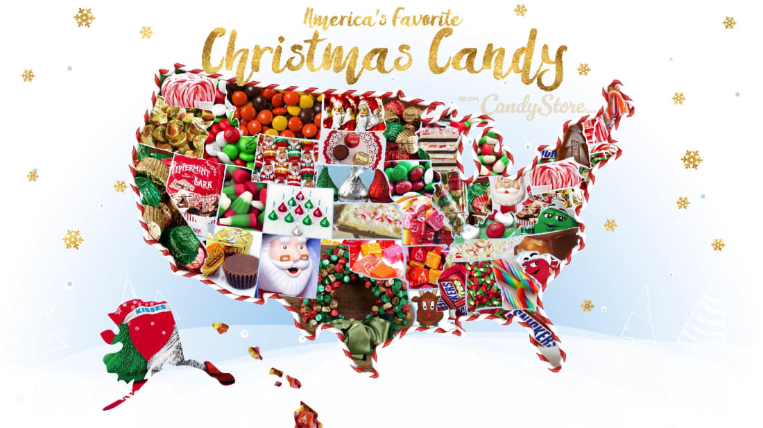 Candy Christmas.The Most Popular Christmas Candy In Each State Mental Floss