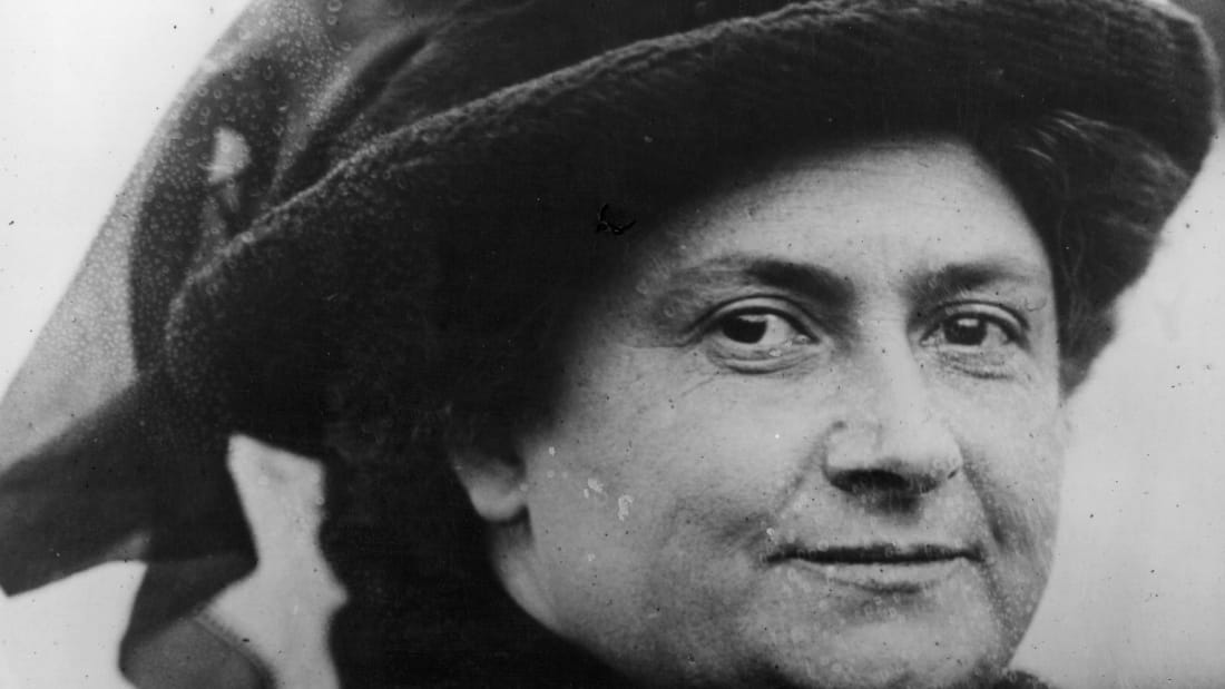 Maria Montessori, an Italian educationalist.