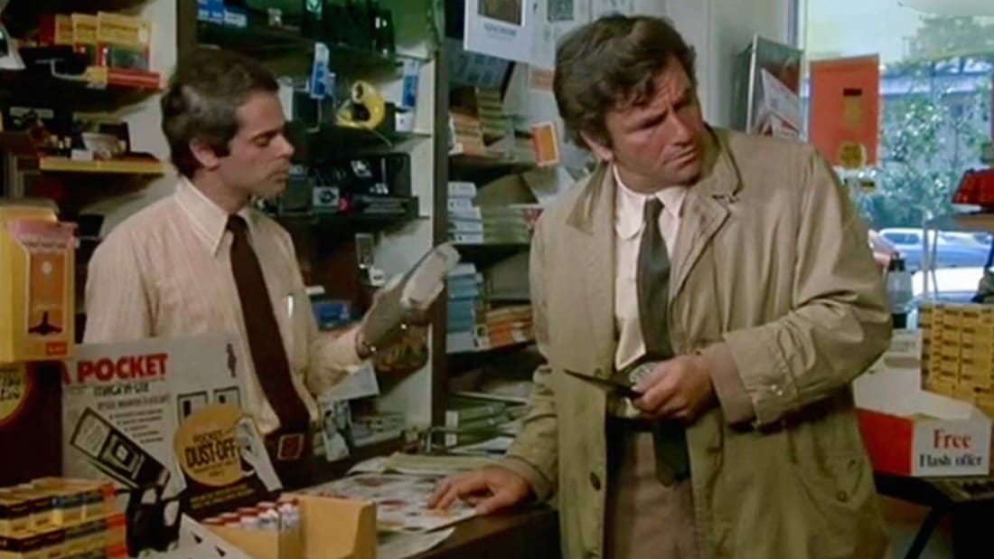 Peter Falk and Harvey Gold in Columbo.