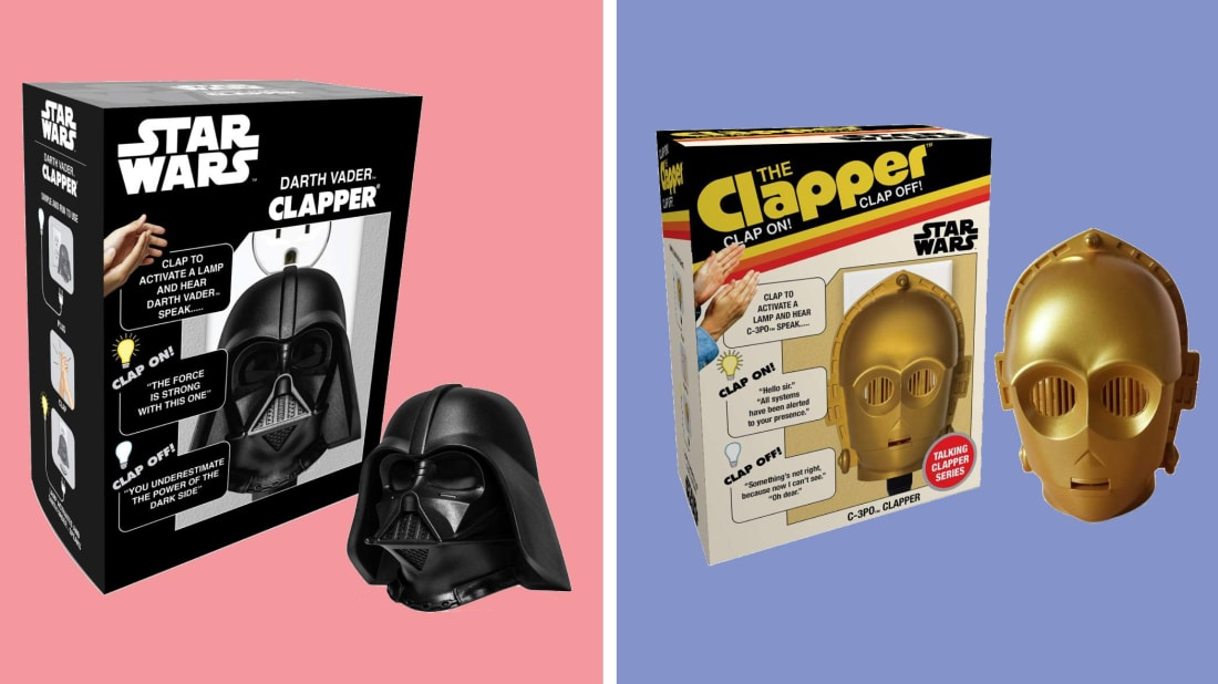 Control your lights and TV with the clap of your hand with these Star Wars-Themed Clappers.