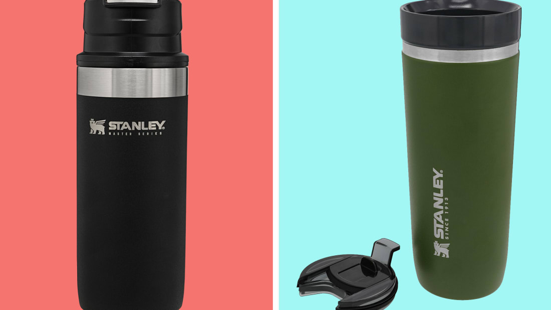 Stanley's Master Unbreakable Trigger-Action Mug (left) and Go Tumbler (right).