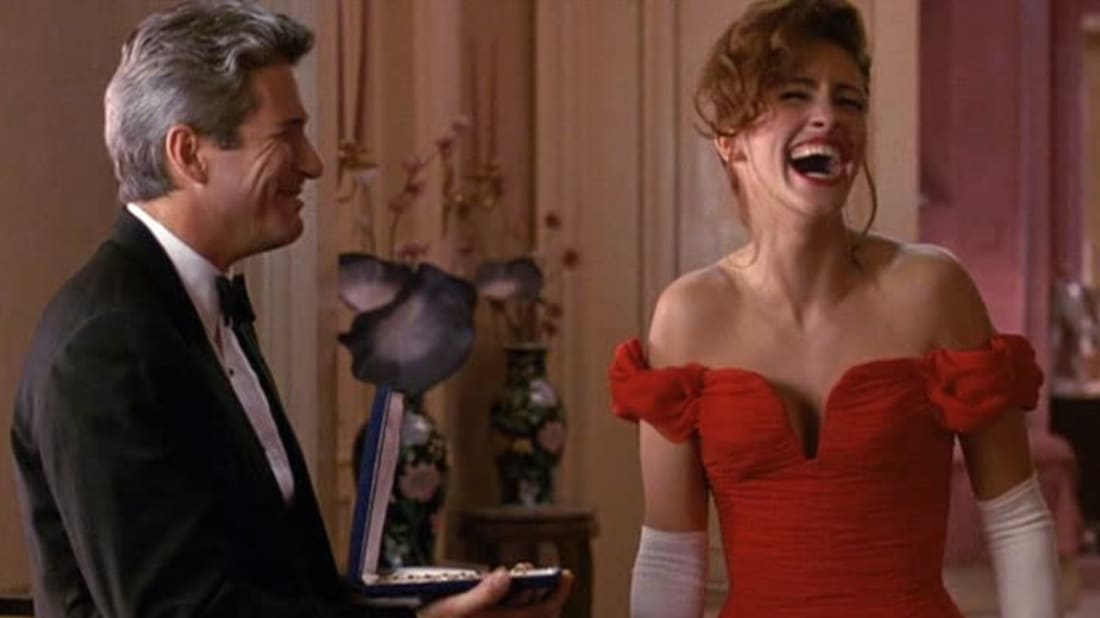 Richard Gere and Julia Roberts in Garry Marshall's Pretty Woman (1990).