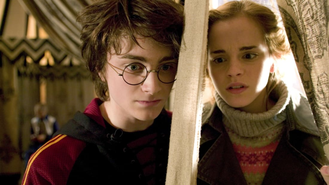 Daniel Radcliffe and Emma Watson in Harry Potter and the Goblet of Fire (2005).