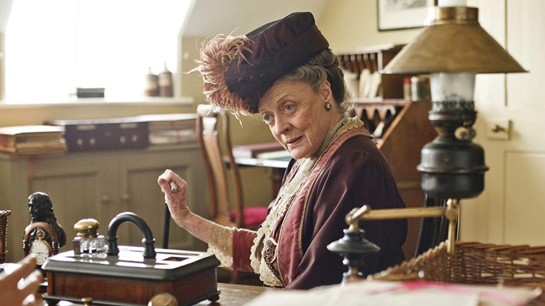 Maggie Smith stars in Downton Abbey.