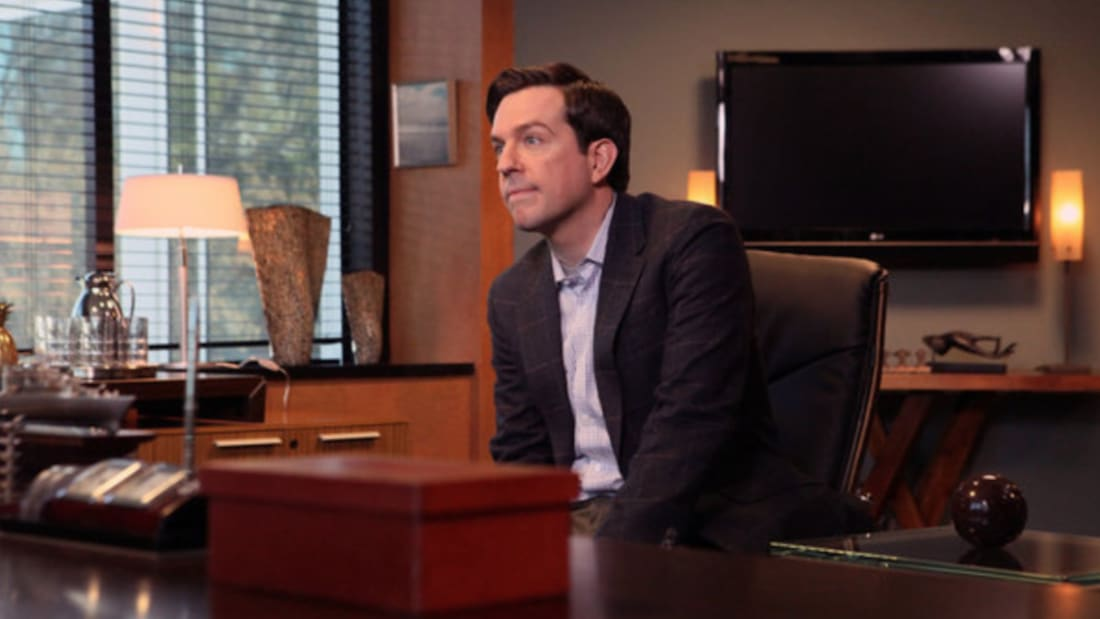 Ed Helms as Andy Bernard in The Office.