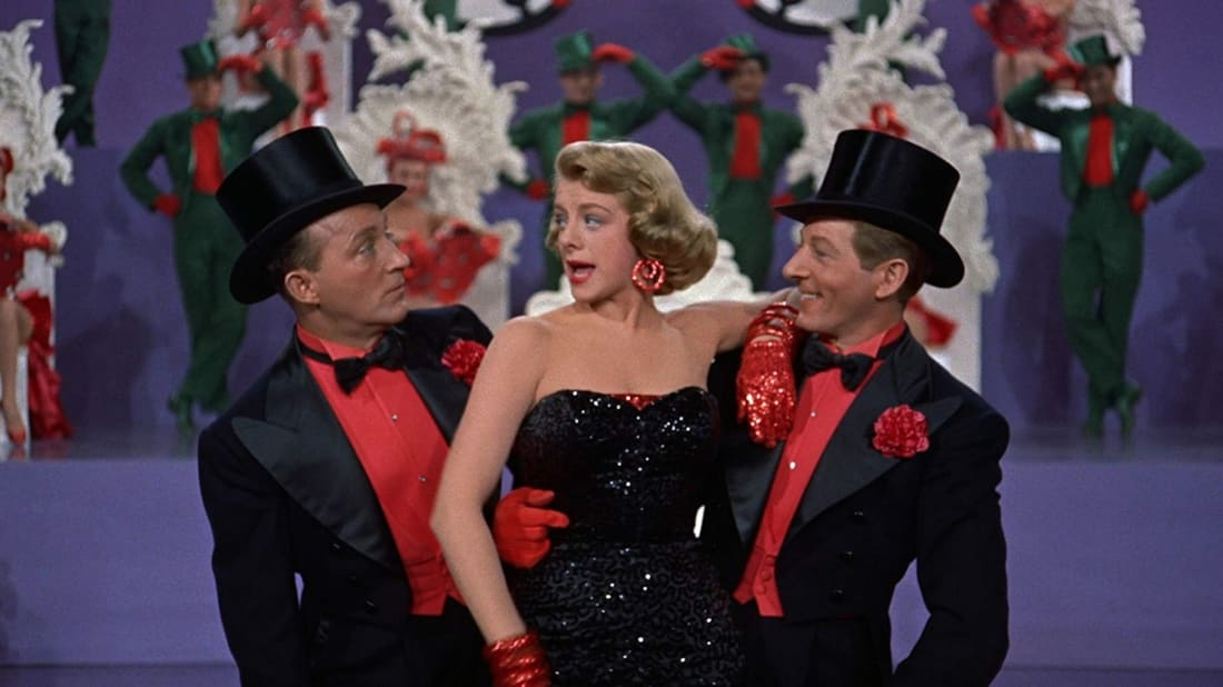 Bing Crosby, Rosemary Clooney, and Danny Kaye in White Christmas (1954).