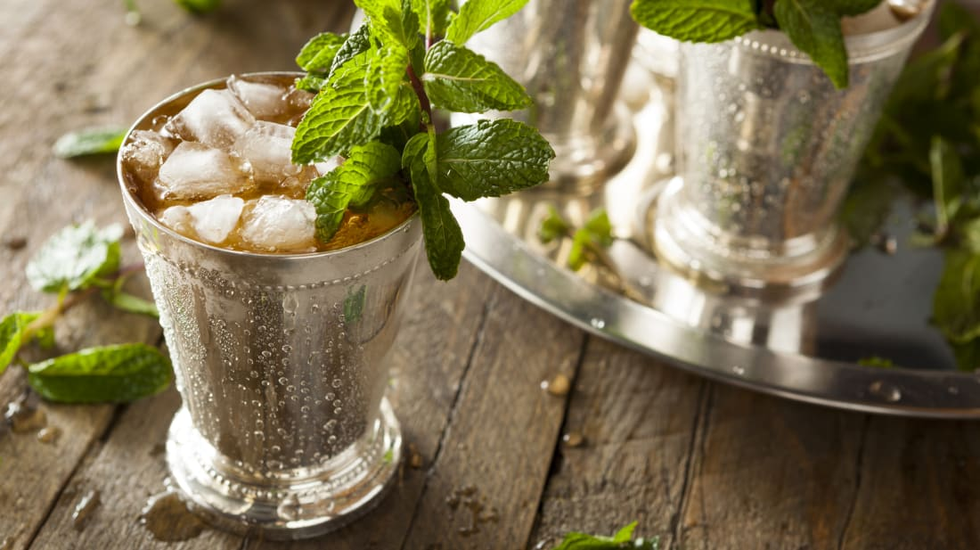 Mint juleps began as medicine.